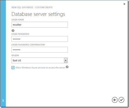 SQL Database - Server Settings