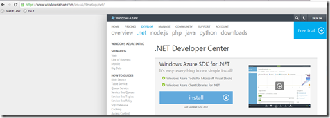 Windows Azure SDK Install