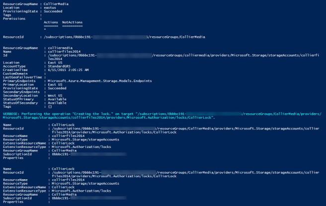 powershell - create account and apply lock