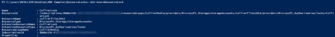 powershell - get-azureresourcelock (masked)