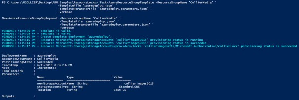 powershell - new-azureresourcegroup - create account with locks 2